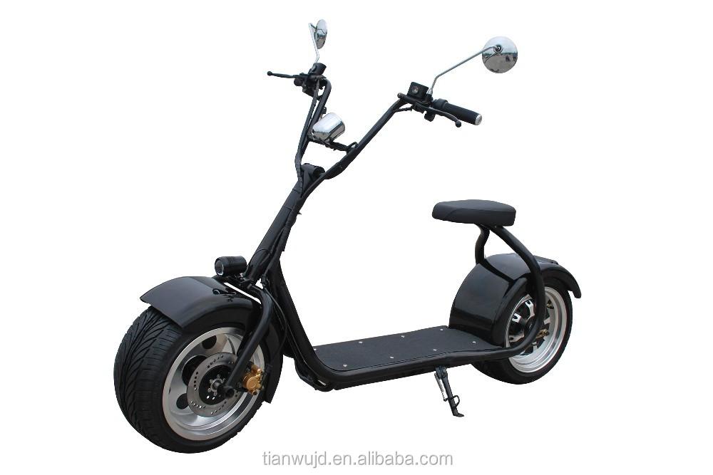 2016 nouveau 1000 w 60 v 2 roues v lo lectrique scooter moto citycoco avec arri re lumi re et. Black Bedroom Furniture Sets. Home Design Ideas