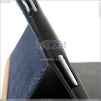 Jean cloth pattern leather case for iPad 3 P-iPAD3CASE018