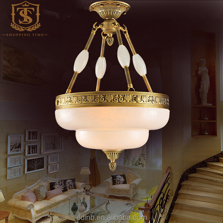 decorative marble pendant light led hanging lamp