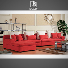 Modern Hot Sale Low Price 5 Seater Fashionable Red Lip Sofa
