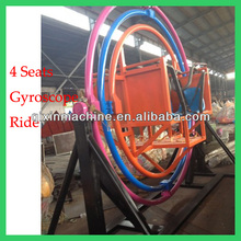 4 seated amusement park 3D space gyro ride for sale
