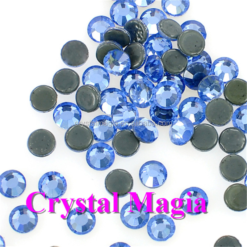 SS20 light sappire drawing hot fix rhinestones China crystal diamond wholesale