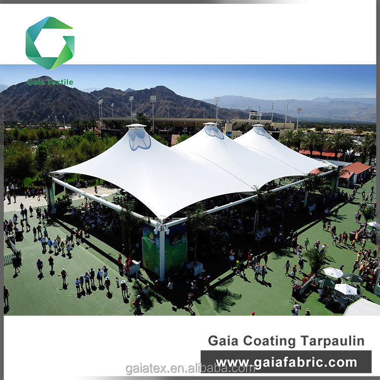 GAIA fabric suuply pvc coated tarpaulin for tent covering