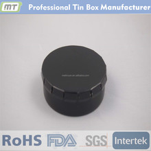 cylindrical shapes Cover mint tin box of matte black tin cans