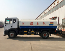DFAC one and a falf row cab 6000L water tank truck