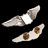 Pretty looking worth buying custom flying metal pilot wings pin badge