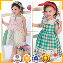 Picture of children gingham casual dress below the knee summer dresses