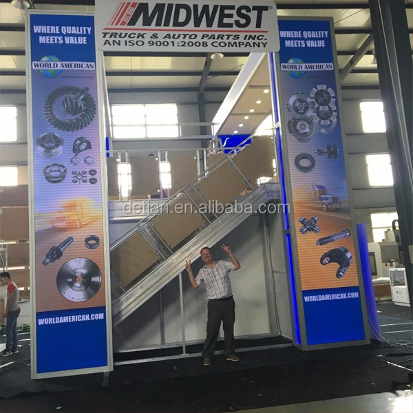 modular & portable slatwall island trade show booth as exhibition booth design freely