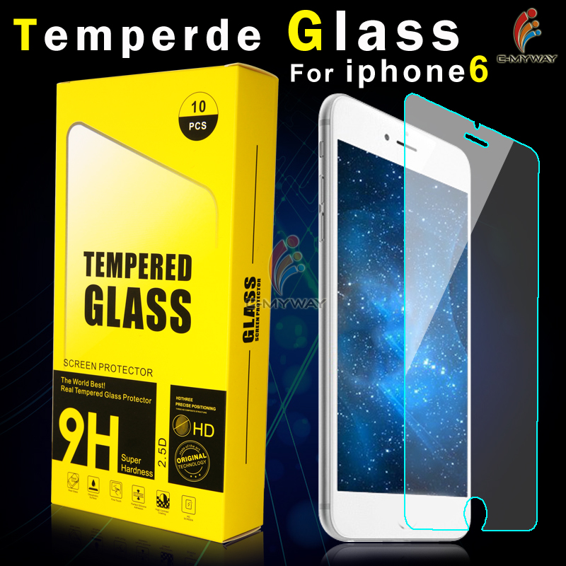 0.33mm 9H explosion proof Whole transparency tempered lcd glass screen protector for iphone 6 plus 5.5