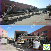 2t/h capacity stainless steel potato cleaning and peeling machine