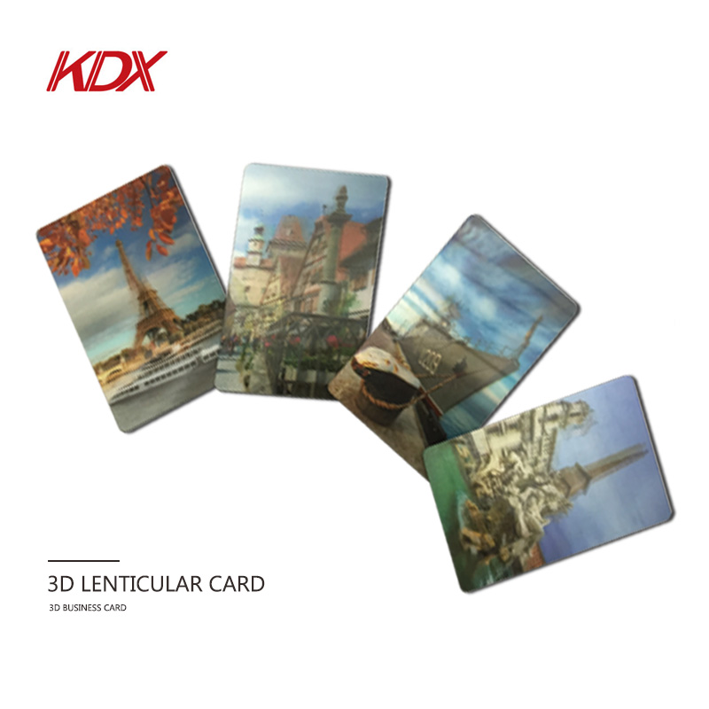 Customization 3D PET Gift Card Printing Type 3D Lenticular Souvenir Postcard