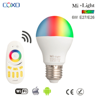 CE Wireless Mi.light E14 E27 Dimmable RGB Smart WIFI LED Light Bulb