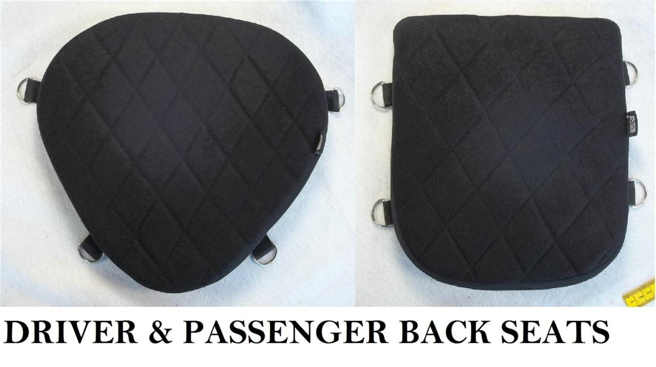 Motorcycle Driver & Passenger Back Seats Gel Pads Set