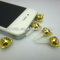 diamond crystal anti dust ear plug cap