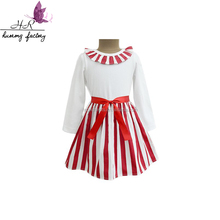 High Quality Simple Baby Frocks Designs Western Long Sleeve Dress Cotton Blend little Girls Casual Wear Dresses