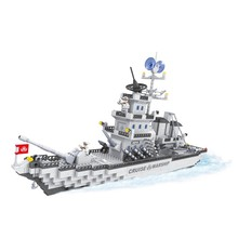 Action military warship model 1276 pcs educational toys for boys