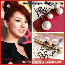 Wholesale pearl spiral hair pin Hair Jewelry AliExpress explosion models