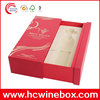 cutom new design decorate cardboard wine box