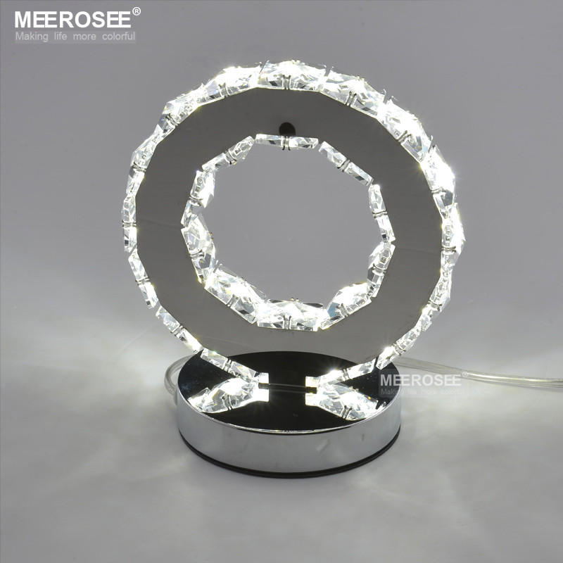 LED Crystal Ring Table Light LED Desk Lamp Reading Light Bedside Table Light Desk Lamp for bedroom MD8825 <strong>L1</strong>