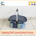 One handle folding shopping basket with cover and heat preservation material