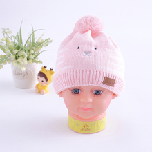 China supplier Wholesale cotton knitted beanie jacquard logo newborn baby winter hat