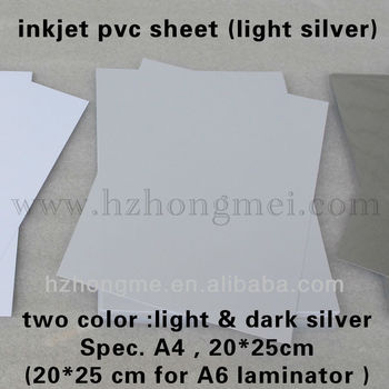 Inkjet pvc sheet(Silver) 210*297*0.3mm