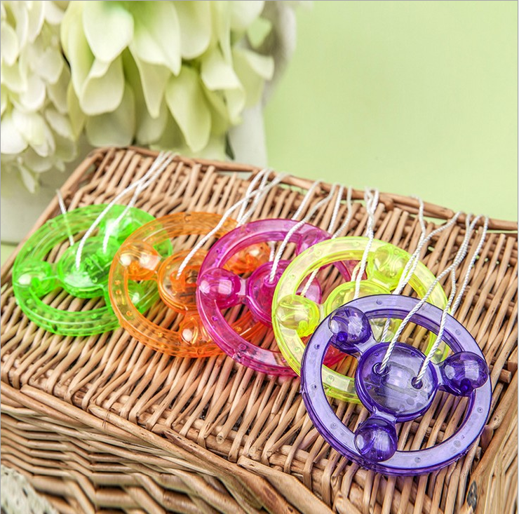 NEW Pull Line Flywheel Toys For Children LED whirligig YOYO Flying saucer wholesale