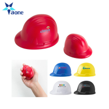 Company Logo Printed Custom Shape Cheap Hard Hat Soft PU Stress Ball Personalized Toy