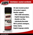 High heat resistante spray paint black