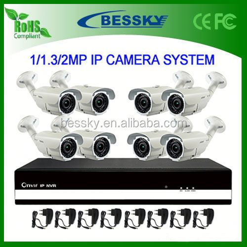 8 CH IP CAMREA NVR Kit,outdoor 2.0mp ip camera hd,h.264 network dvr video surveillance system