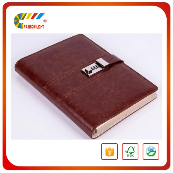 China book printer manufacture custom printing leather cover for notebook
