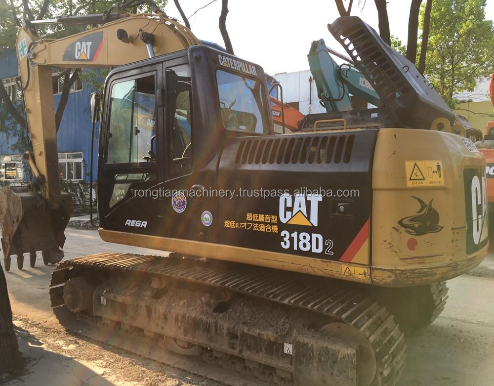 Running condition 18t Japanese used cat 318D excavator for sale in Shanghai site