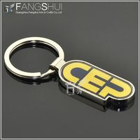 2013 new custom shaped metal keychain/new product metal letter keychain