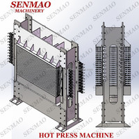 Plywood hot press machine, veneer hot press , plywood machine