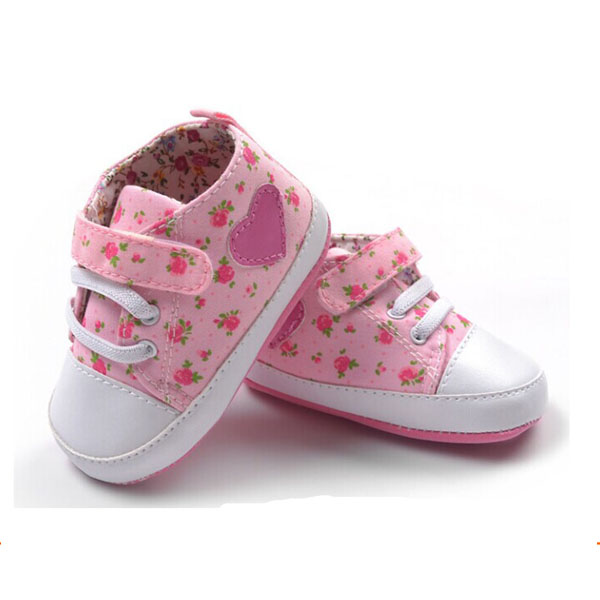 new arrival infant baby girl floral casual sport sneaker shoes