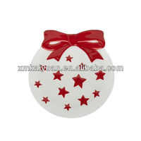 2013 new design porcelain christmas candy plate