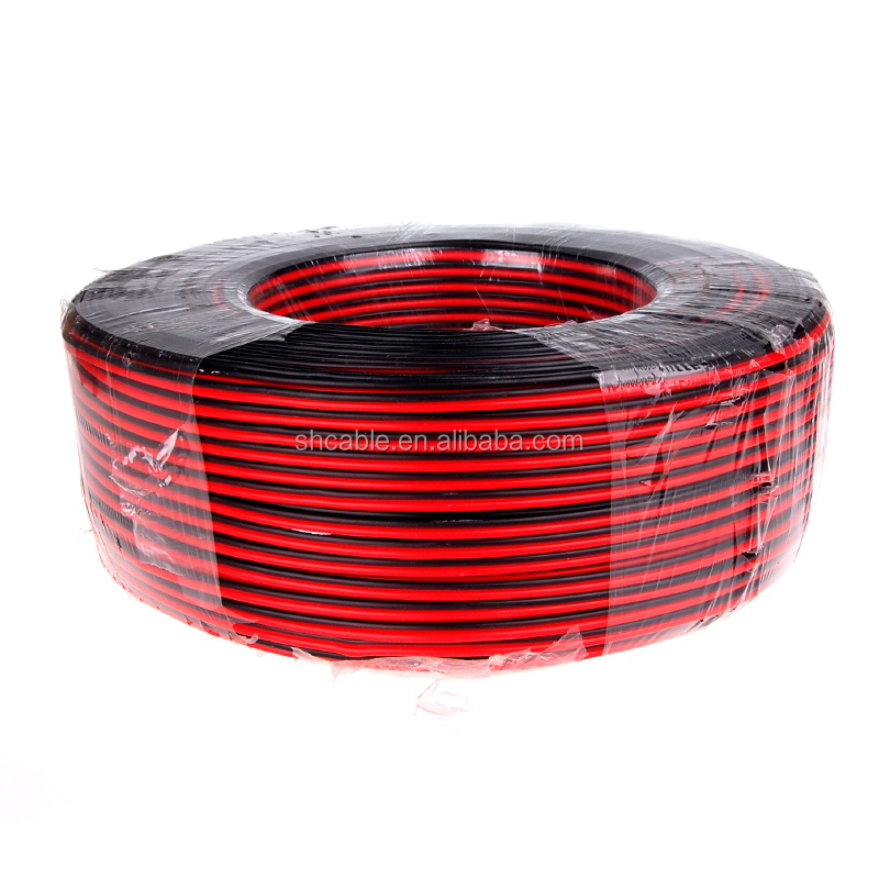 2C*1mm light PVC insulated sheathed copper electric cable <strong>wire</strong>