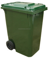 96 gallon trash can/big dustbin/pedal bin with rubber wheels