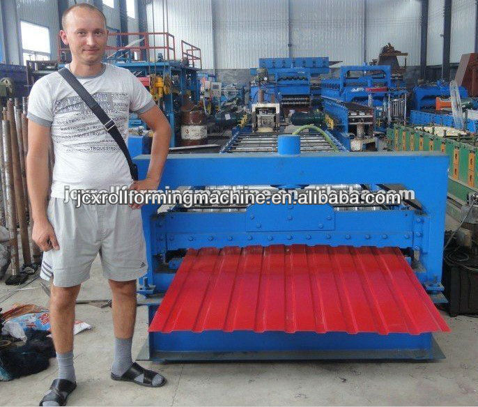 Russia popular type-T12 roof panel roll forming machine