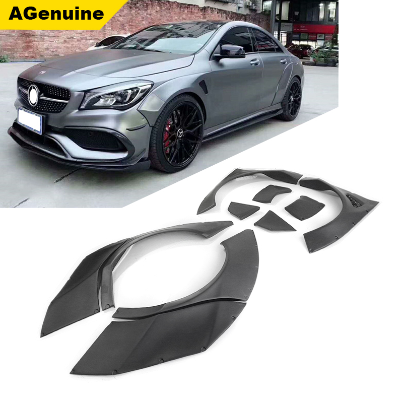 10pcs/set Car wide body kit wheel arches fender trims for Mercedes Benz CLA class <strong>W117</strong>