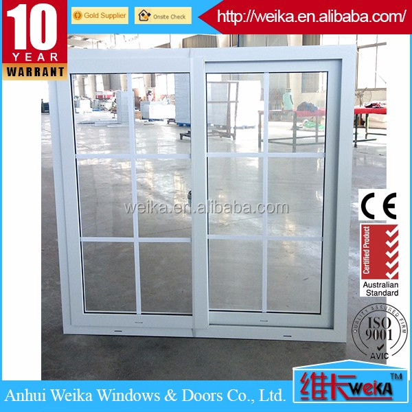 Double glazed PVC frame office sliding window price philippines
