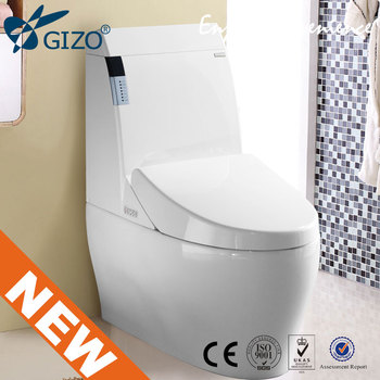 intelligent toilet wireless remote control white ceramic with floor mounting