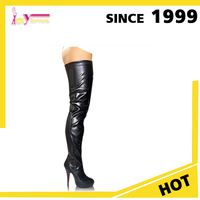wholesale USA fashion women high heel black long over knee hot sexy thigh high crotch boots