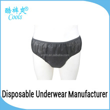 Disposable Briefs Black Nonwoven Men Sexy Briefs Custom Men Briefs Underwear For Spa,Sauna,Travel