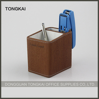 Desk organizer pu pen container from china supplier