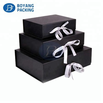 Wholesale cardboard printed gift packaging folding paper shoe box with custom logo
