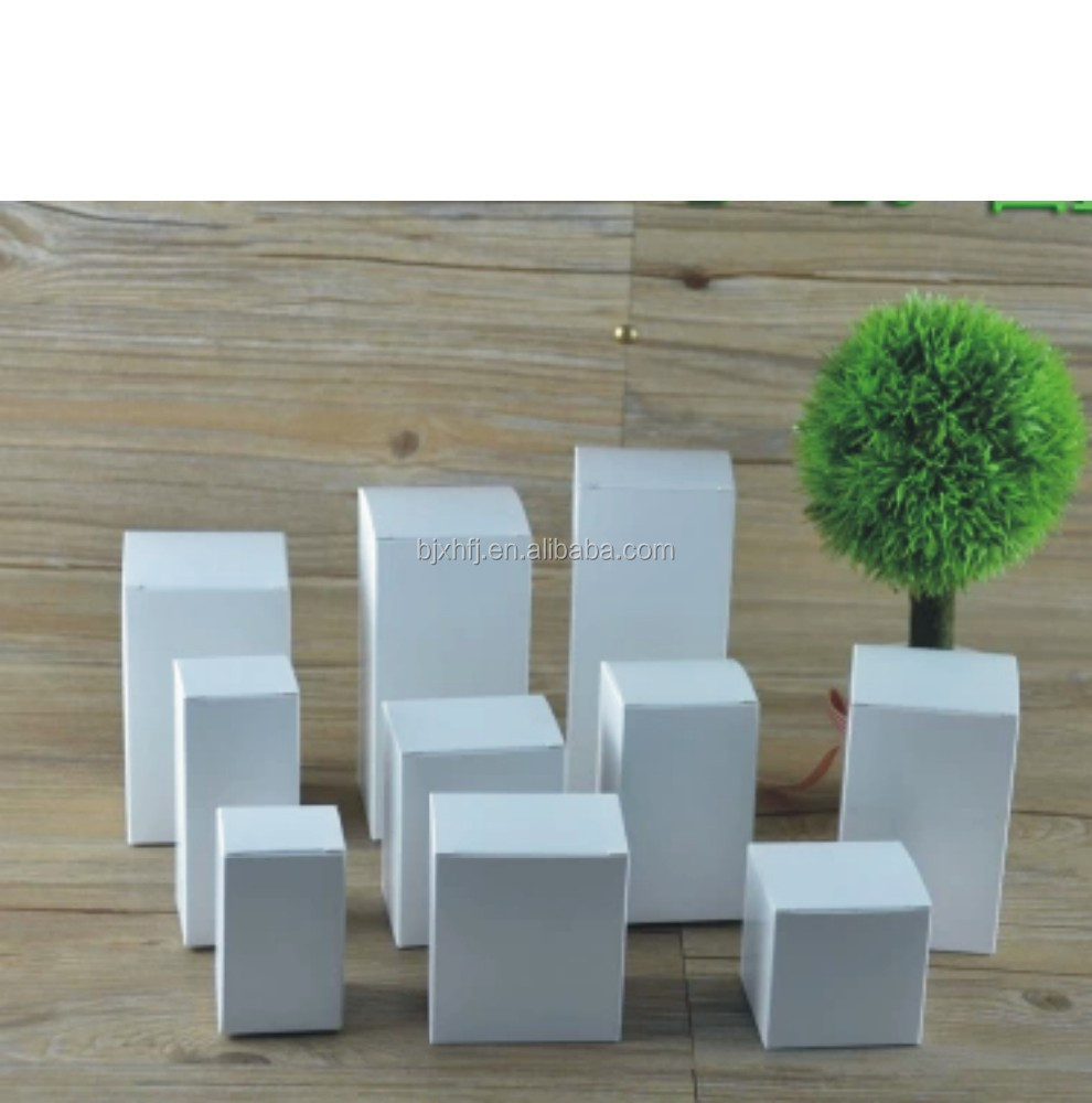 high quality folding white paper box for perfume packaging