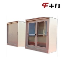 Glass Door Cosmetic Storage Metal Cabinet