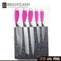 Professional custom knife pink handle kitchen knife set stainless knife set
