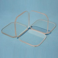 Flat Solid borosilicate glass sheet